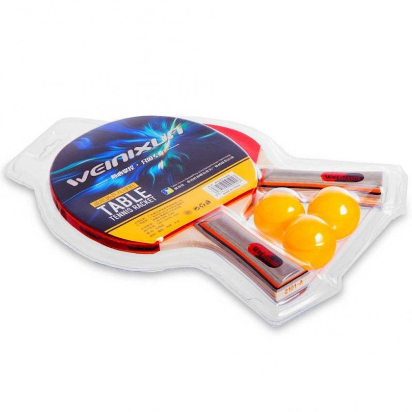 Stolüstü tennis dəsti Weinixun 2101-A, dəstə daxildir: 2 raketka/3 top