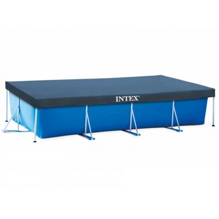 Düzbucaqlı çərçivə hovuzu üçün tent Intex Rectangular Frame Pools 28039, göy, 450x220 sm