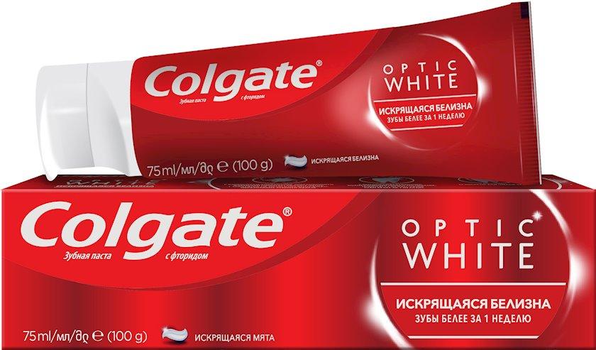Diş məcunu Colgate Optic White Parlaq ağartı 75 ml