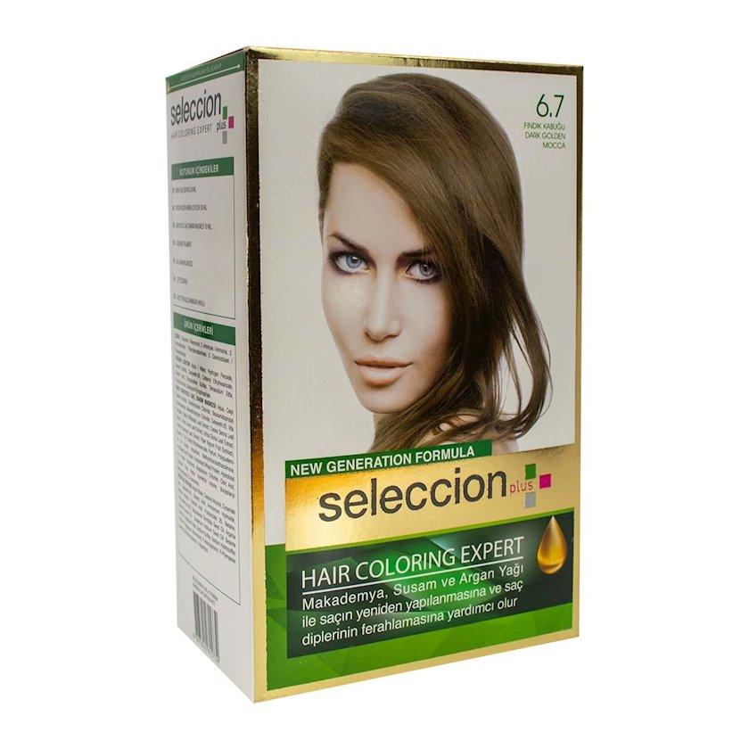 Saç boyası Seleccion Plus Set Plus Set Dye 6.7 Fındıq qabığı 110 ml