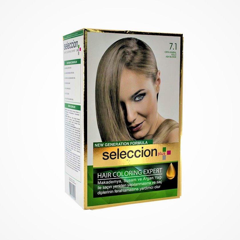 Saç boyası Seleccion Plus Set Plus Set Dye 7.1 Kül sarışın 110 ml
