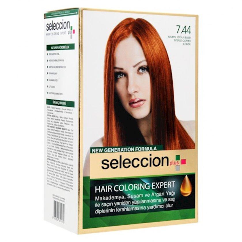 Saç boyası Seleccion Plus Set Plus Set Dye 7.44 İntensiv-mis sarışın 110 ml