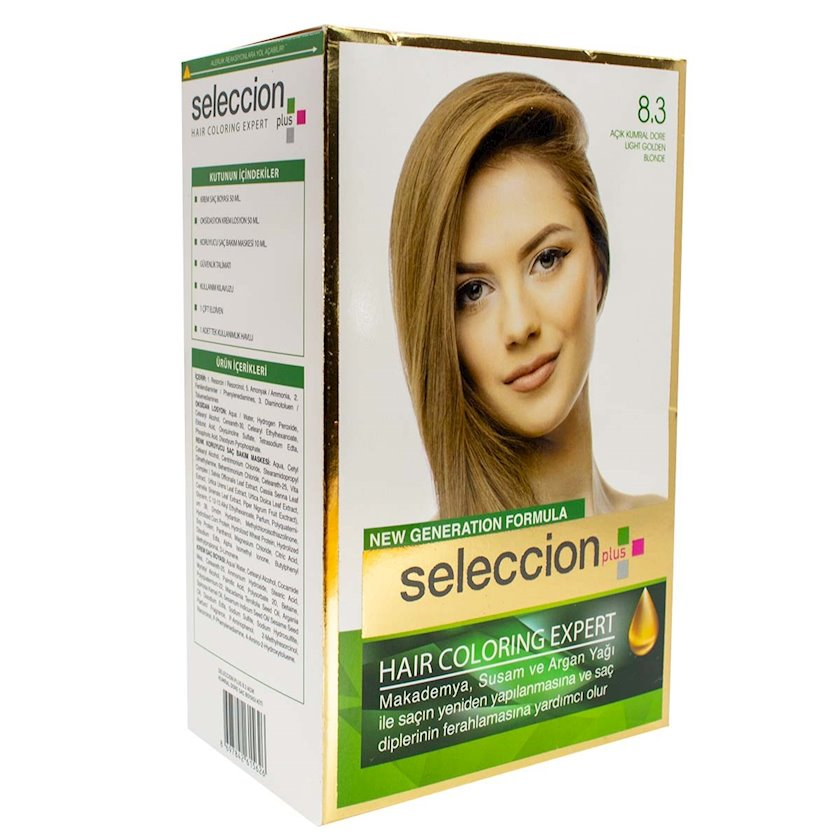 Saç boyası Seleccion Plus Set Plus Set Color 8.3 Açıq qızılı sarışın 110 ml