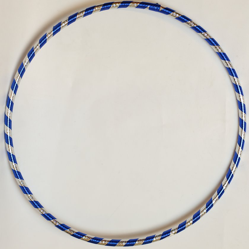 Çənbər 195-13, göy/gümüşü, zolaqlı, plastik, 55 sm