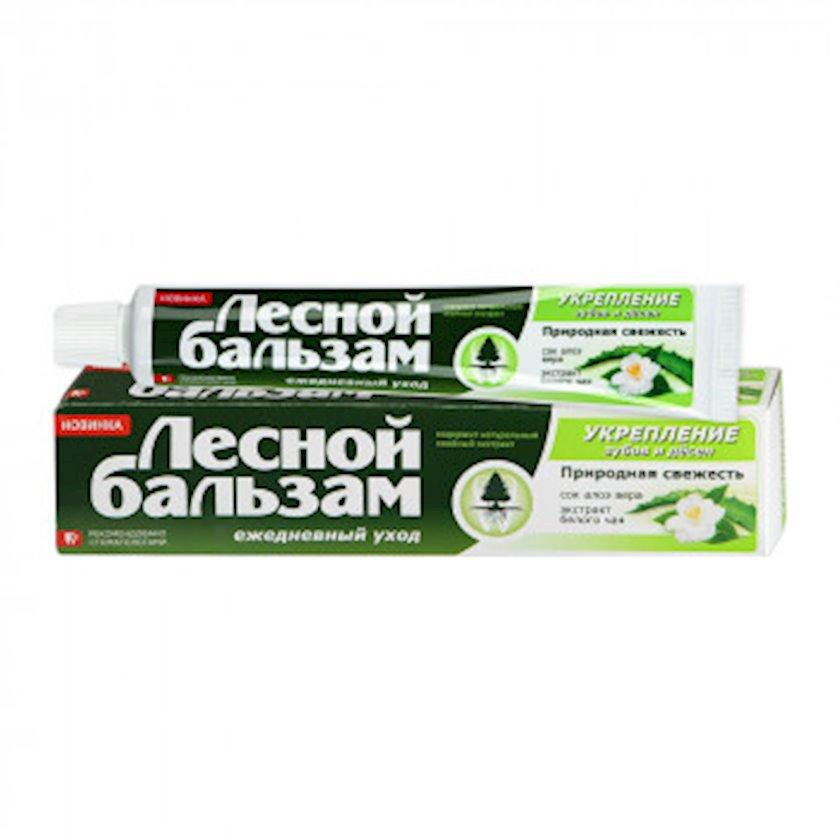 Diş məcunu Лесной Бальзам Təbiət təravəti Aloe vera və ağ çay 75 ml