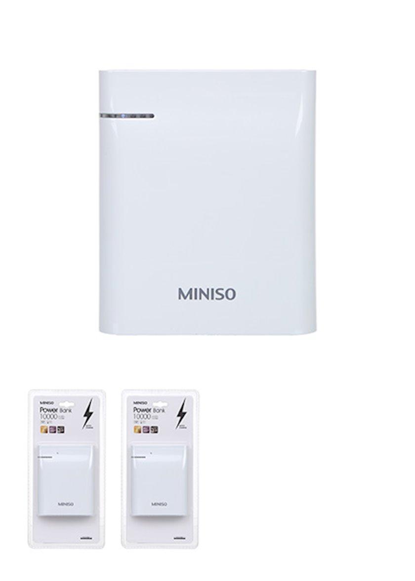 Xarici akkumulyator Miniso Barrel Quick Charge Power Bank BST-K2D White
