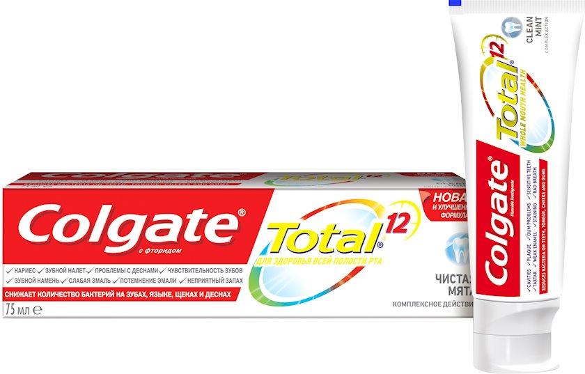 Kompleks diş məcunu Colgate Total 12 Təmiz nanə Antibakterial 75 ml
