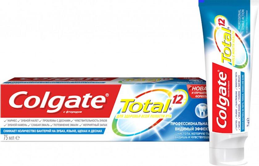Kompleks diş məcunu Colgate Total 12 Professional Görünən Effekt Antibakterial 75 ml