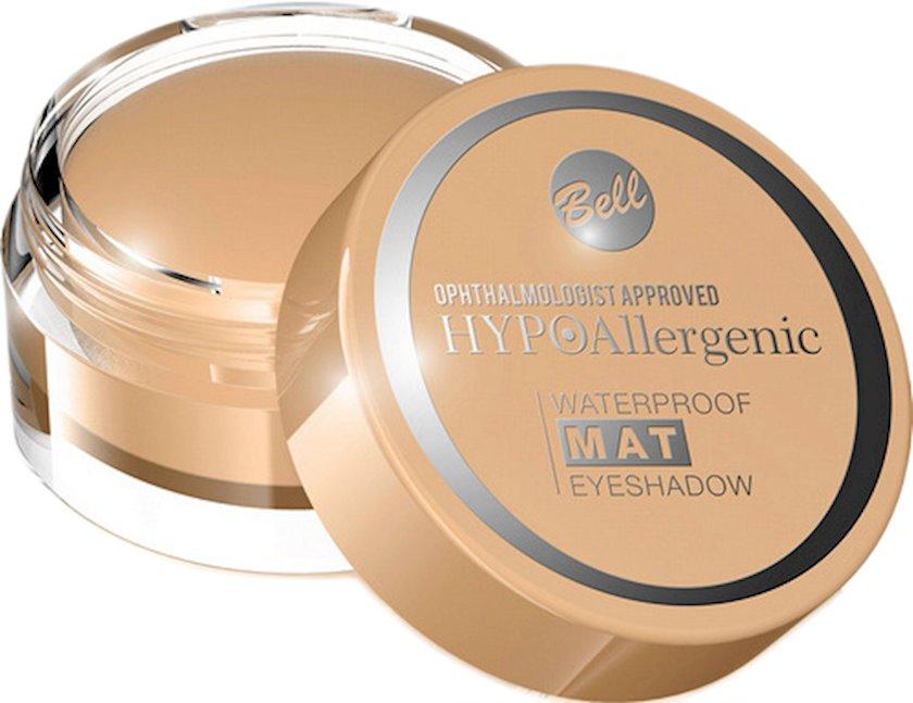 Göz kölgələri Bell Waterproof Mat Hypo Allergenic Eyeshadow, çalar 01 Beige, 4,8 q