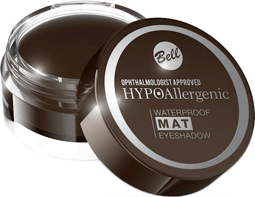 Göz kölgələri Bell Waterproof Mat Hypo Allergenic Eyeshadow, çalar №03 Dark Brown, 4,8 q