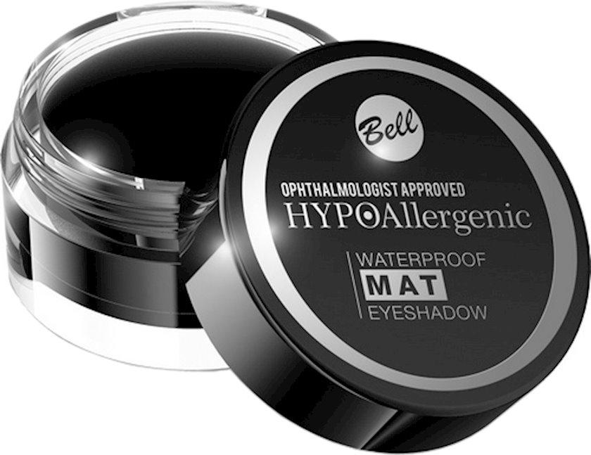 Göz kölgələri Bell Waterproof Mat Hypo Allergenic Eyeshadow, çalar 04 Black, 4,8 q