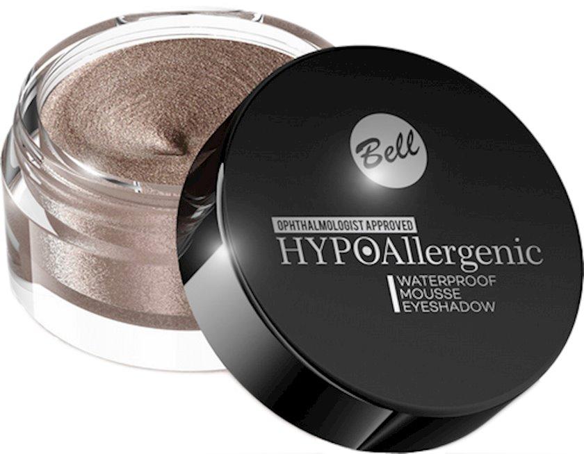 Göz kölgələri suyadavamlı Bell Hypo Allergenic Waterproof Mousse, çalar 011 Shimmering Copper, 4,8 q