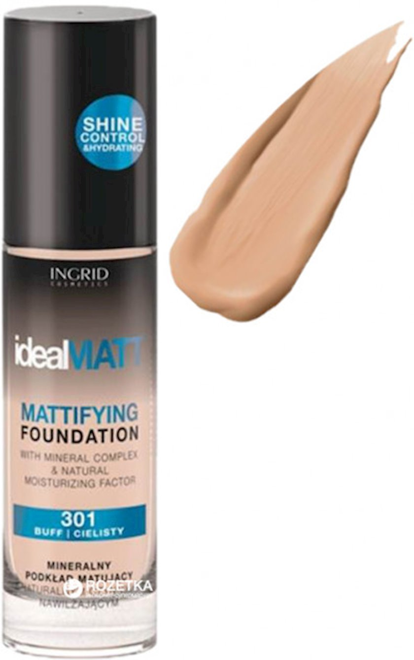 Tonal krem Ingrid Cosmetics Ideal Matt Mattifying Foundation  №303