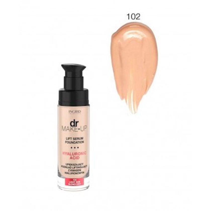 Tonal krem Ingrid DR. Make up zərdab ilə №102 30 ml