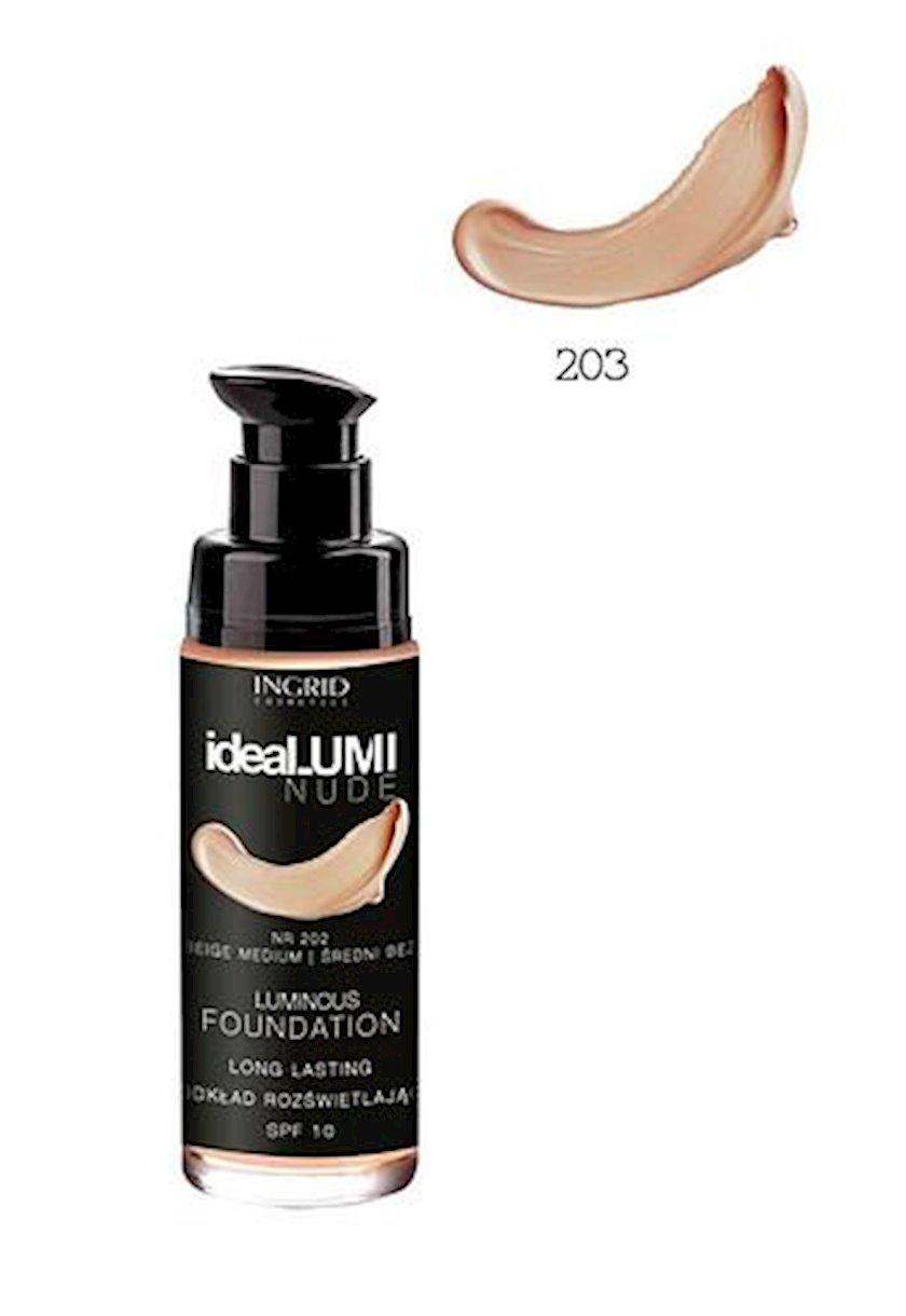 Tonal krem Ingrid Ideal Lumi Nude № 203 30 ml