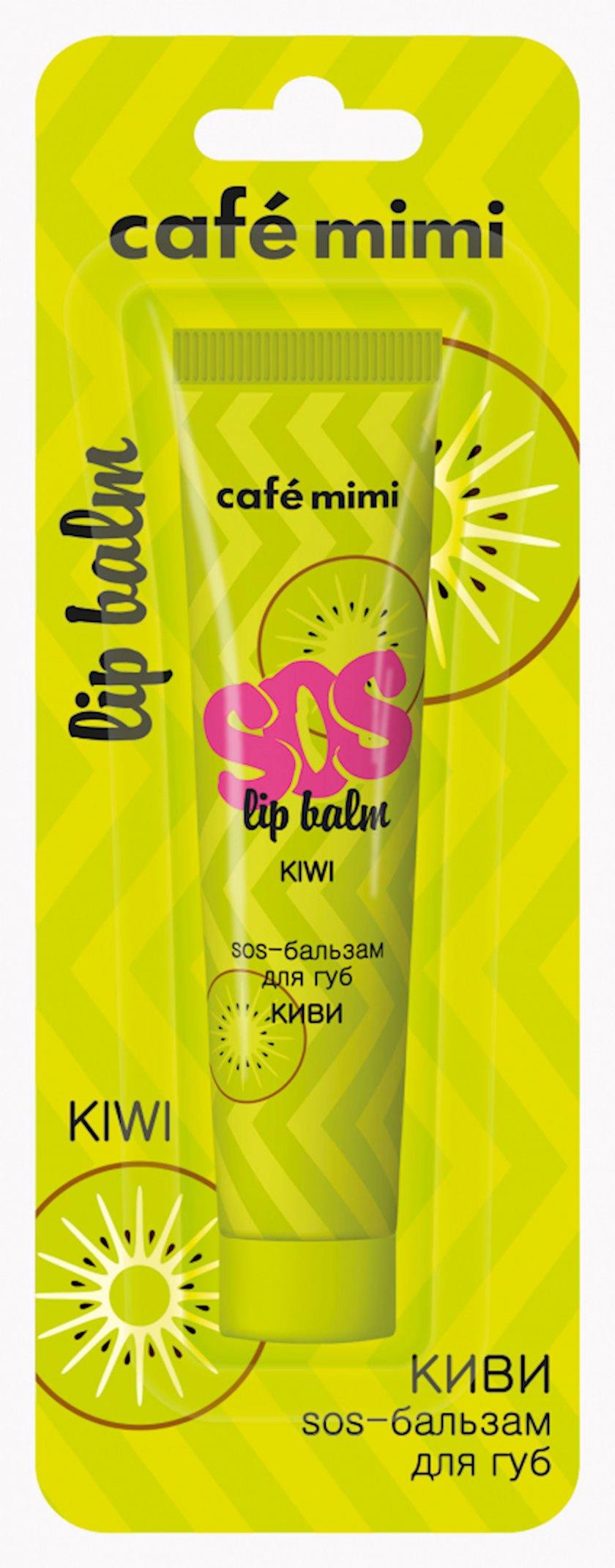 """SOS-balzam dodaq üçün Cafe Mimi """"Кivi"""""""