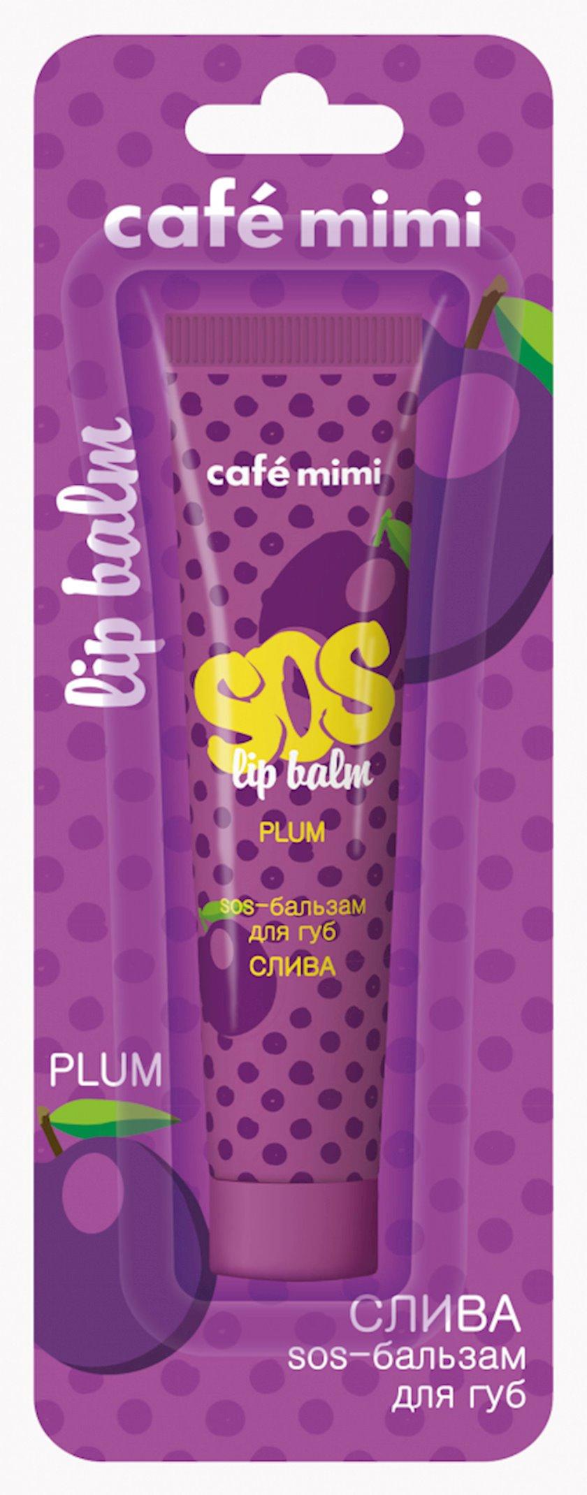 """SOS-balzam dodaq üçün Cafe Mimi """"Gavalı"""""""