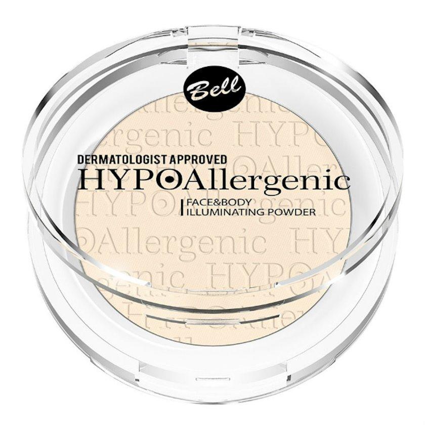 Kirşan-xaylayter üz və bədən üçün Bell HypoAllergenic Face Body Illuminating Powder 01, 3,6 q