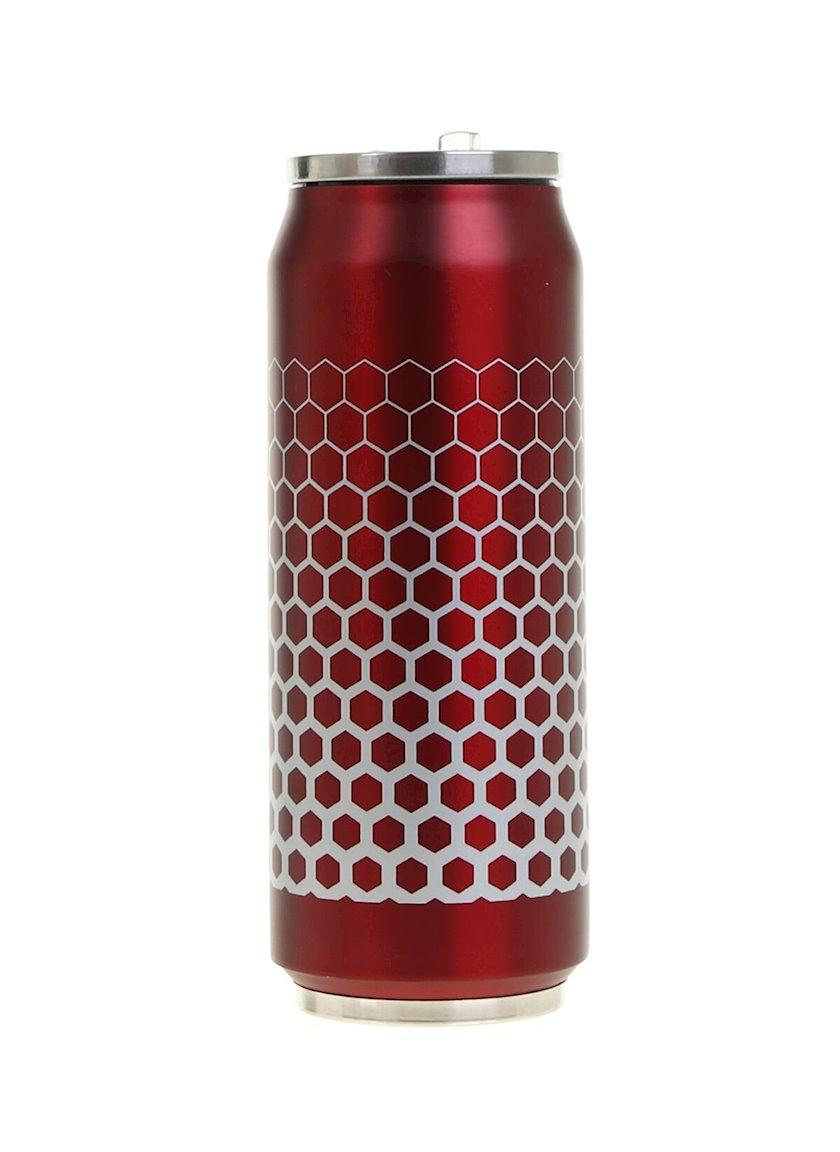 Termokrujka Koopman, qırmızı, paslanmayan polad, 500 ml