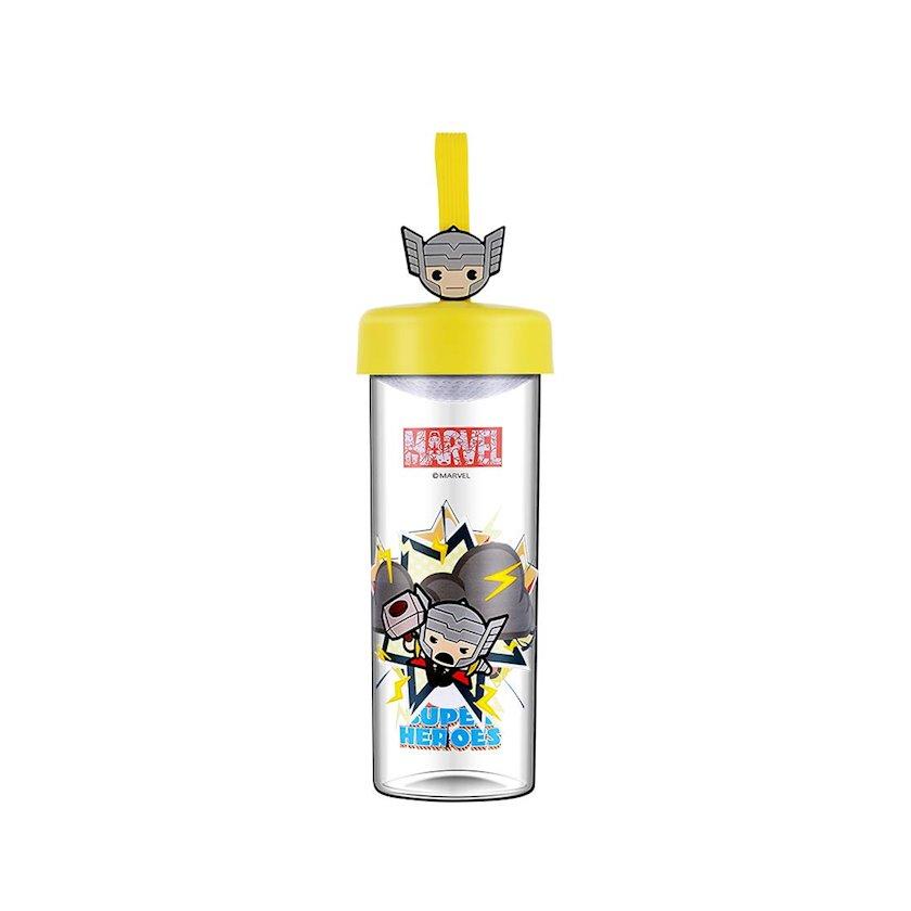 Su şüşəsi Miniso Marvel Thor 450 ml, şəffaf, plastik