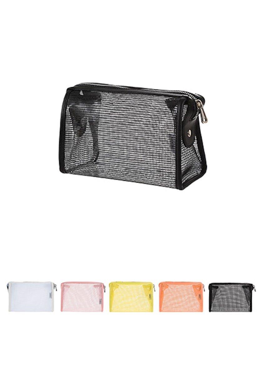 Kosmetik çanta Miniso Shell plastik, qara