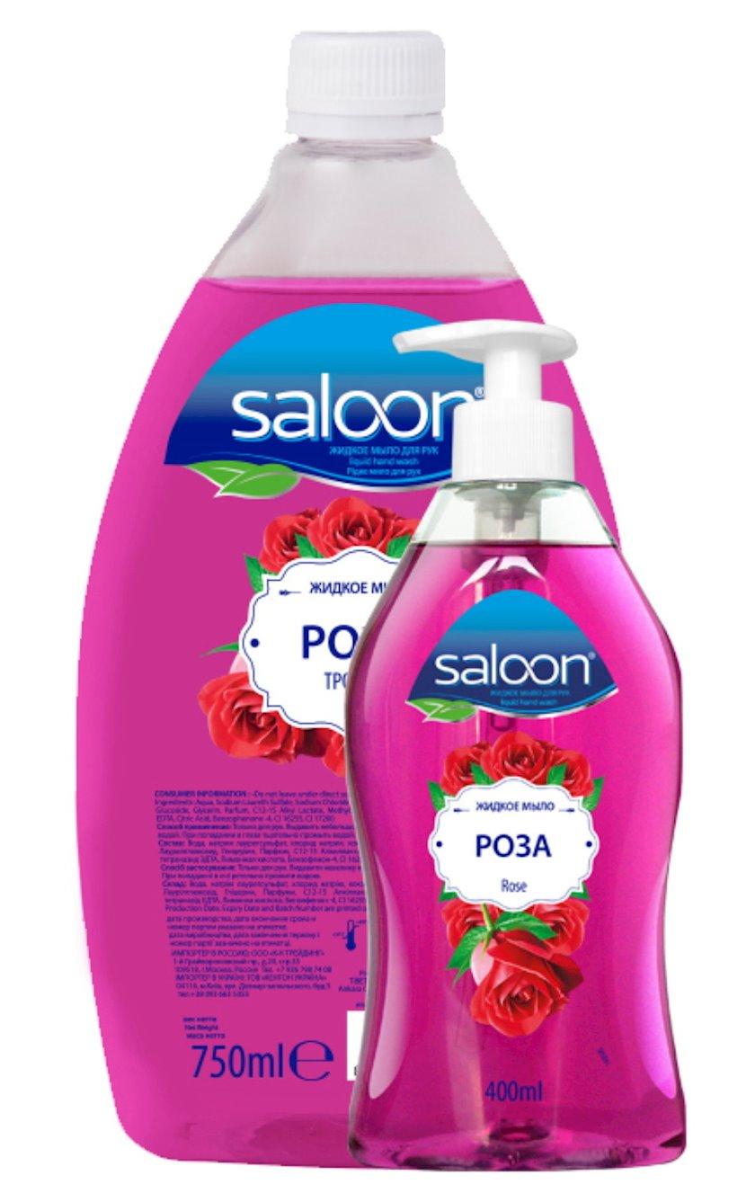 Maye sabun əllər üçün Saloon Qızılgül 400+750 ml