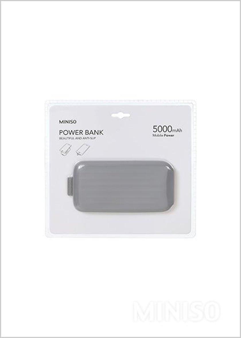 Portativ enerji toplama cihazı Miniso Portable Power Bank with Suction Cup 5000mAhModel: MC-011 (Grey)