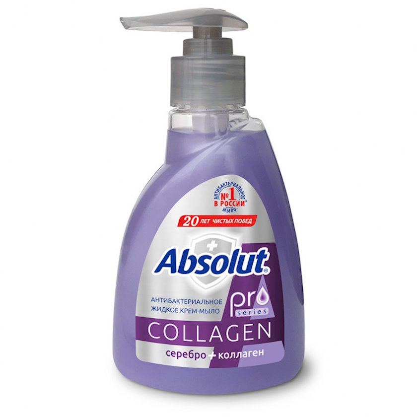 Antibakterial maye krem sabun Весна Absolut Pro Collagen Gümüş + Kollagen 250 ml