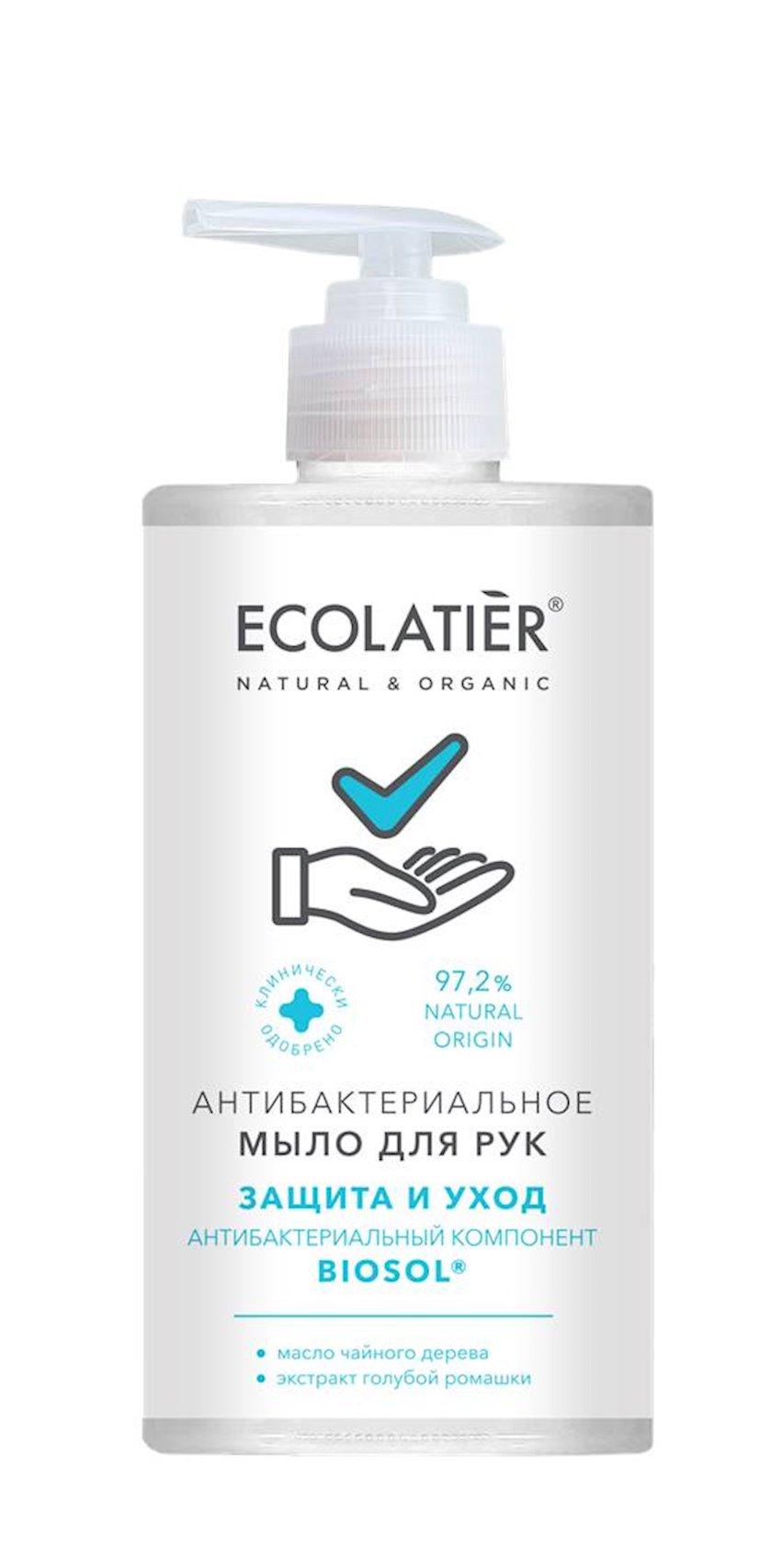 Əllər üçün antibakterial sabun Ecolatier antibakterial komponent ilə BIOSOL Müdafiə və qulluq 460 ml