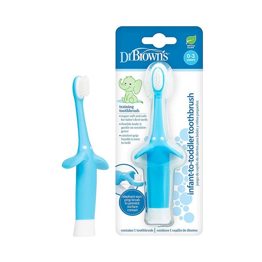 Diş fırçası Dr.Brown's körpələr və uşaqlar üçün, 0 yaşdan 3 yaşadək, mavi