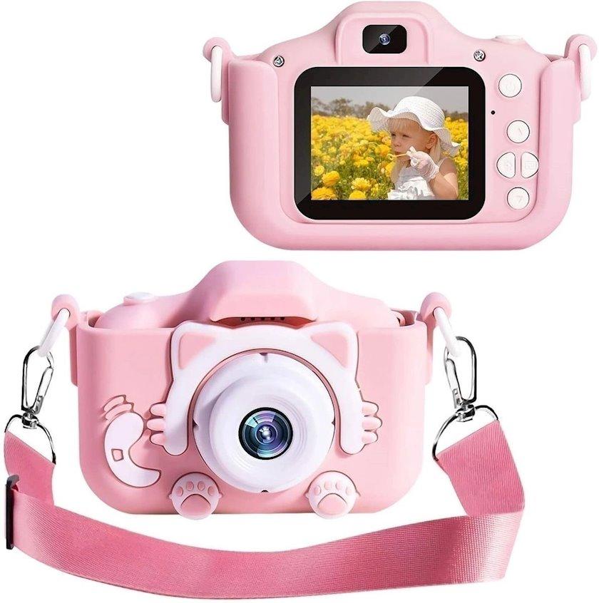 Uşaq fotoaparatı Rasik Pişik, çəhrayı