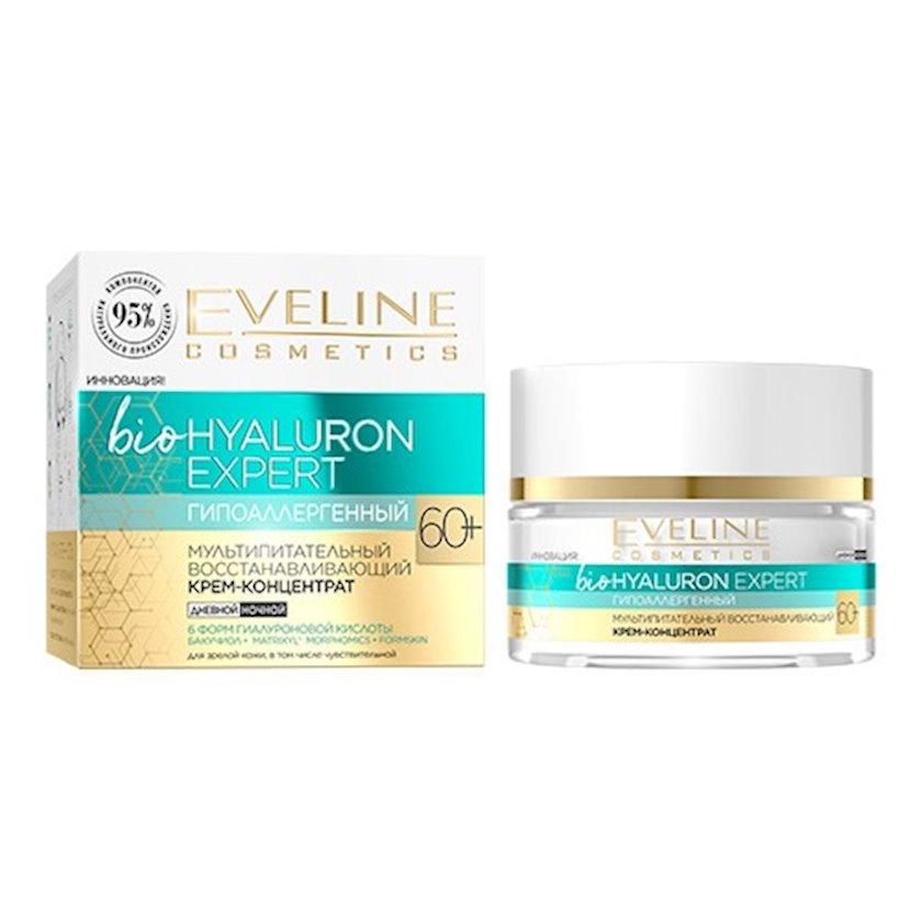 Multiqıdalandırıcı krem-koncentrat Eveline Bio Hyaluron Expert Bərpaedici 60+, 50 ml