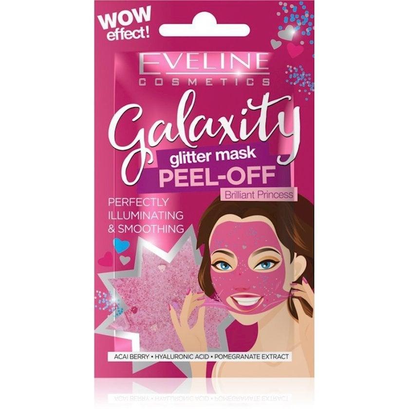 Ağardıcı və hamarlaşdırıcı maska üz üçün Eveline Galaxity Peel-OFF Brilliant Princess 10 q