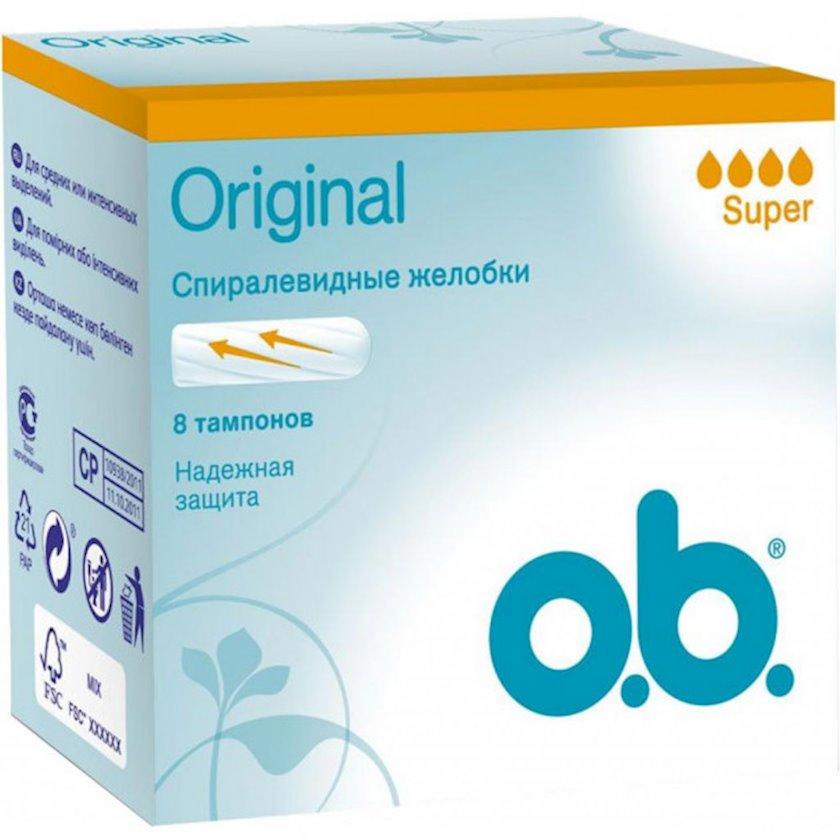 Tamponlar o.b. Original Super 8 ədəd