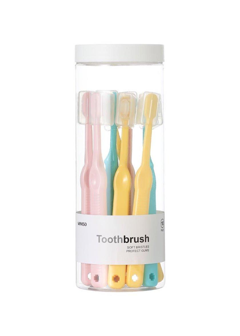 Uşaq diş fırçası Miniso Soft Bristle 8 əd