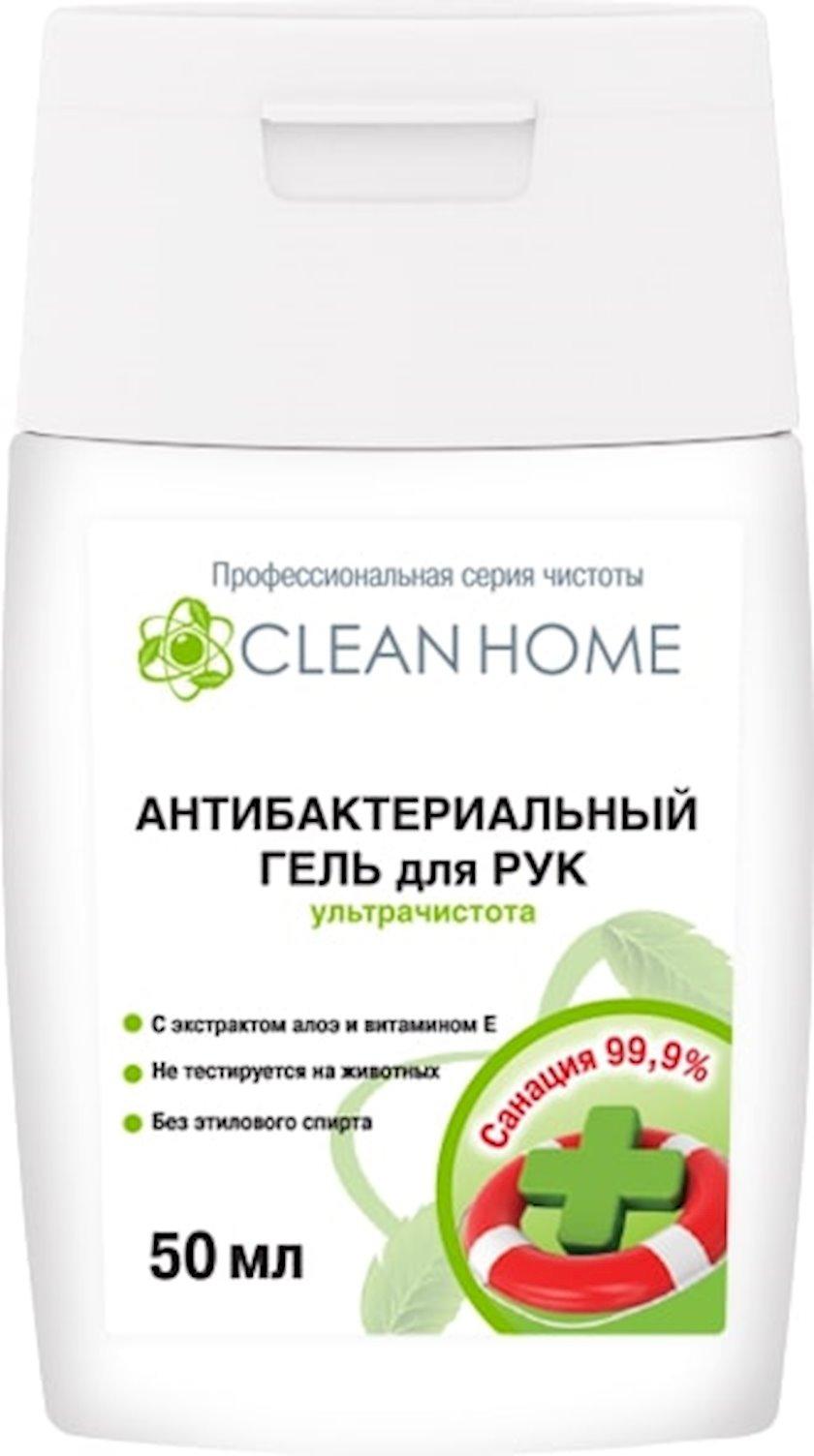 Antibakterial gel Clean Home əllər üçün ultra təmizlik, 50 ml