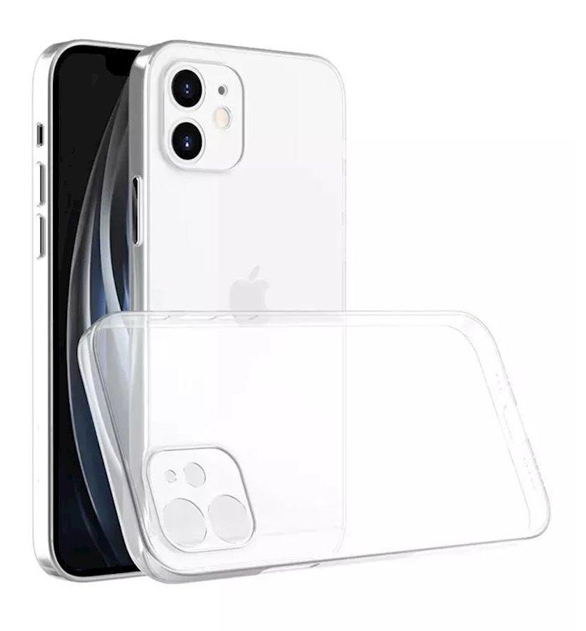 Çexol Virgin Silicone (2.0)  Apple iPhone 12 Mini üçün Transparent