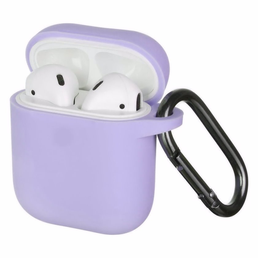 Qulaqlıq üçün çexol YO Airpods 1/2 Slim with Carbine Light purple