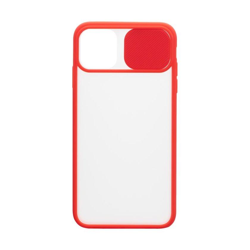 Çexol YO Camshield Color Apple iPhone 11 üçün Red