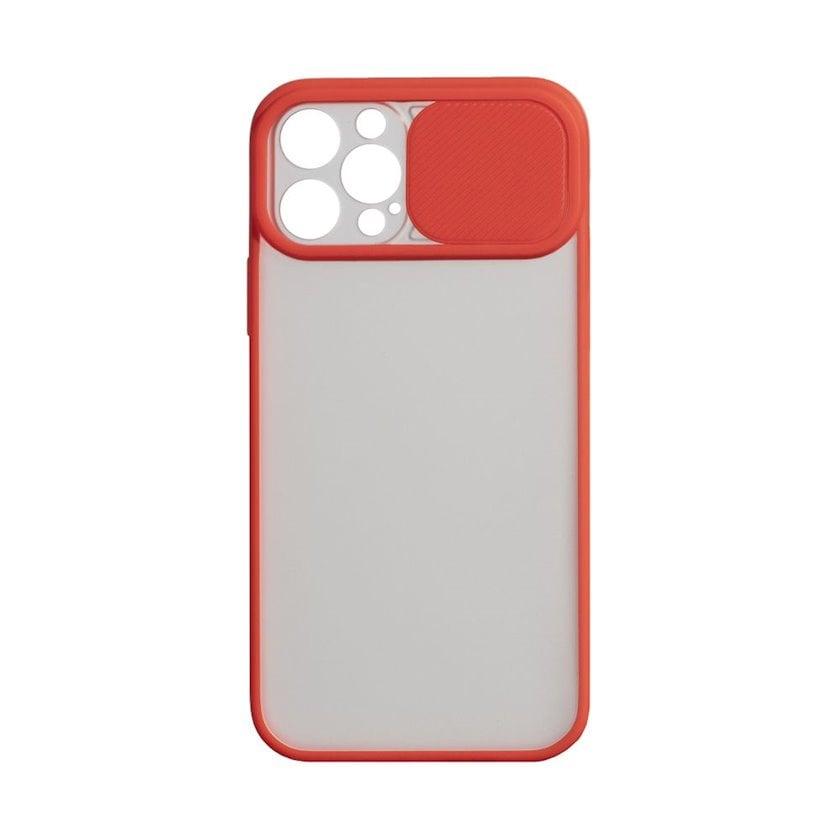 Çexol YO Camshield Color Apple iPhone 12 / 12 Pro üçün  Red