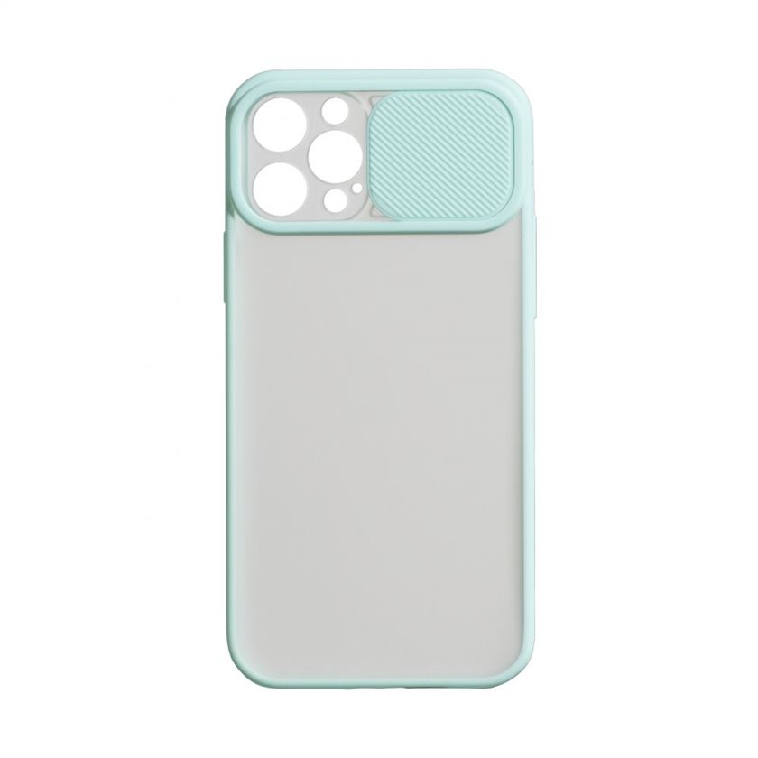 Çexol YO Camshield Color Apple iPhone 12 / 12 Pro üçün  Light Blue