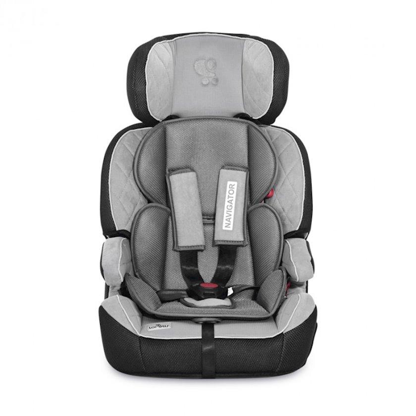 Uşaq avtomobil oturacağı Lorelli Navigator Grey, 9-dan 36 kiloya qədər, qrup 1/2/3, parça/plastik, boz, 44x40x68 sm, 5.4 kq