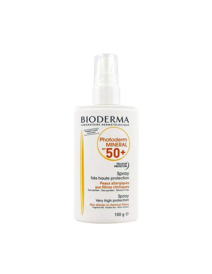Üz və bədən üçün günəşdən qorunma sprey Bioderma Photoderm Mineral Spray SPF50+ 100ml