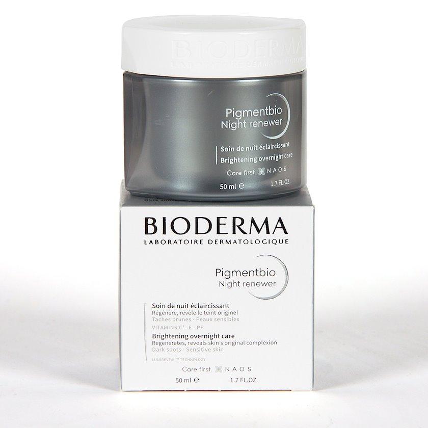 Üz üçün ağardıcı gecə kremi Bioderma Pigmentbio Night Renewer Brightening Overnight Care 50ml