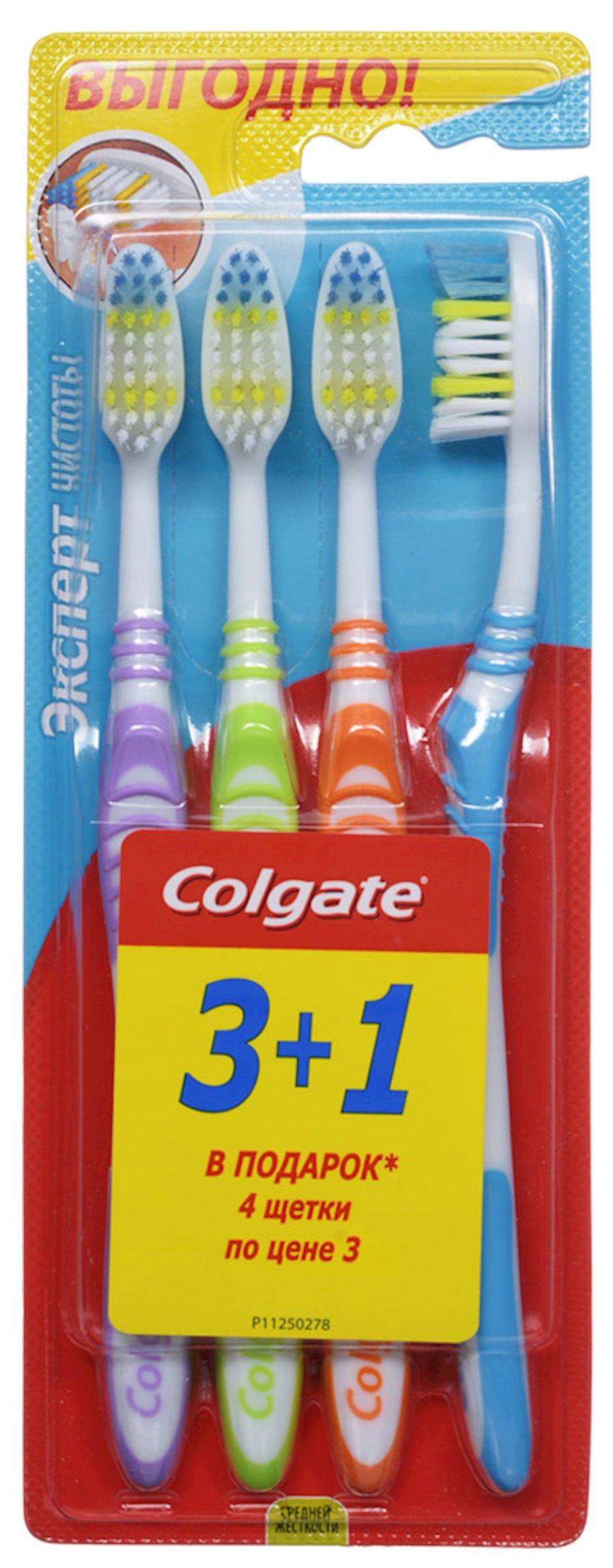 Diş fırçası Colgate Təmizlik ekspertı orta sərtlik 3+1