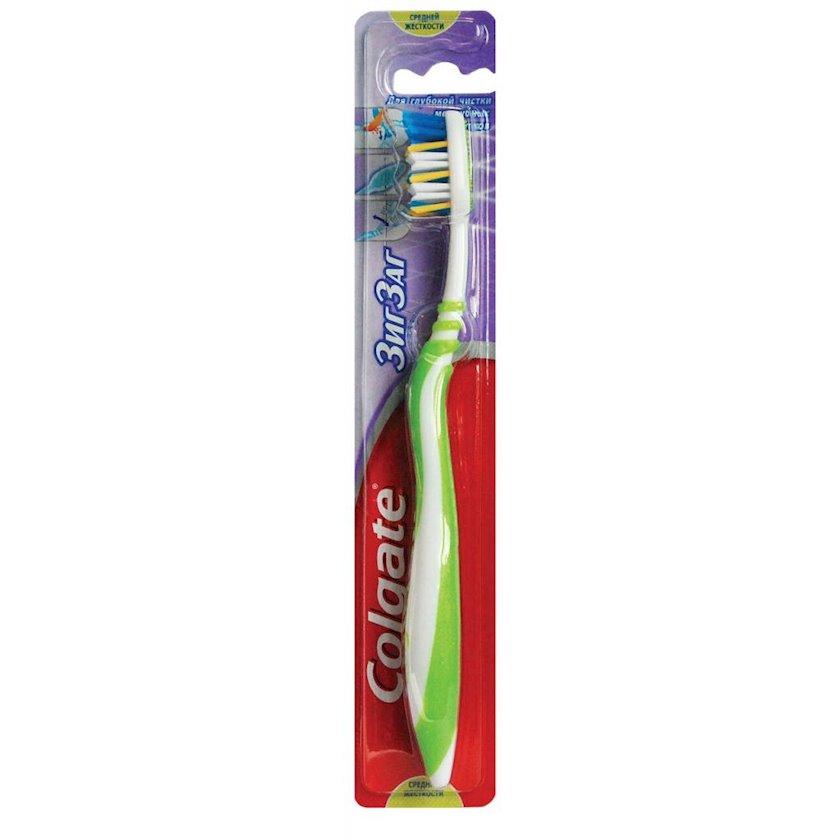 Diş fırçası Colgate Ziqzaq Plyus orta sərtlikli