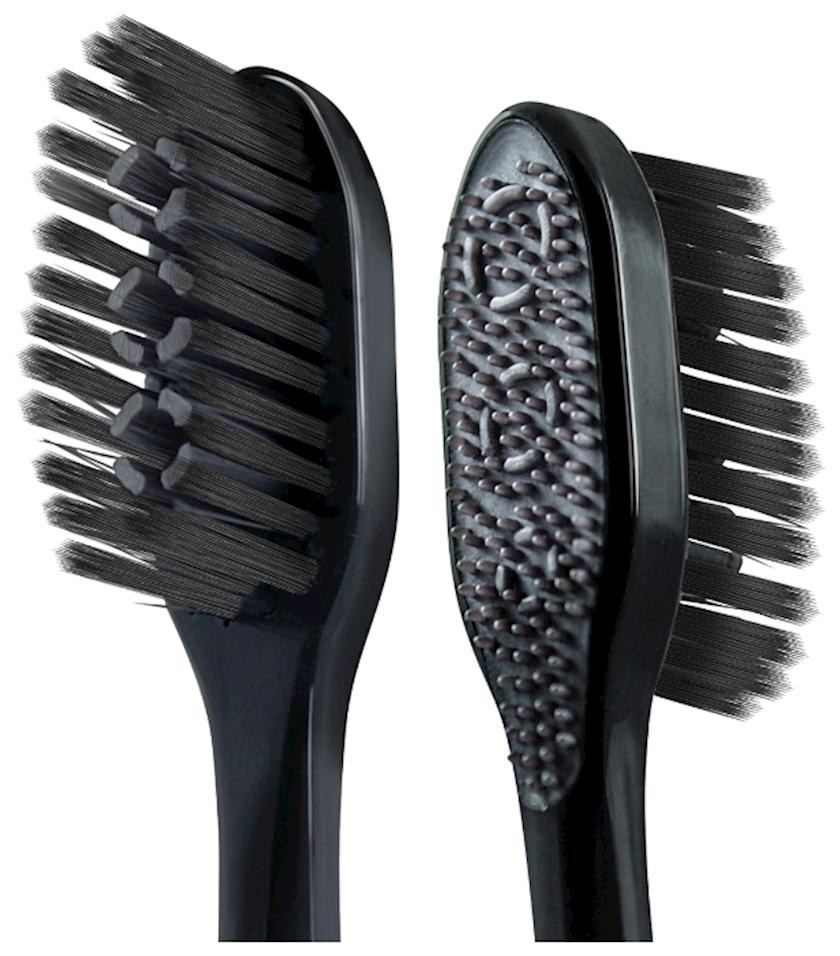 Diş fırçası Colgate 360, çoxfunksiyalı, ağac kömürü ilə, orta sərtlik