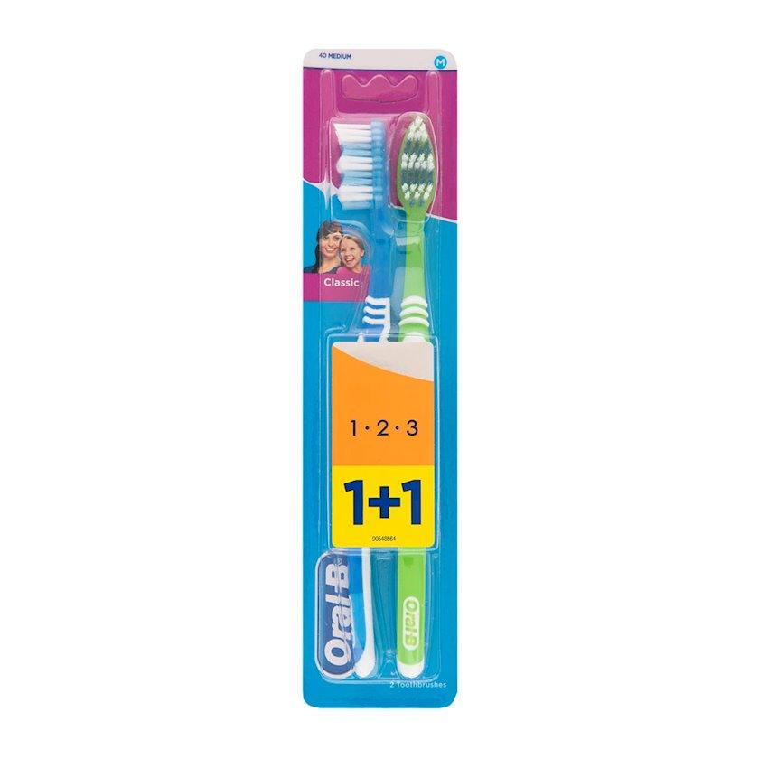 Diş fırçası Oral B 3 Effect Classic 40 Medium 1+1