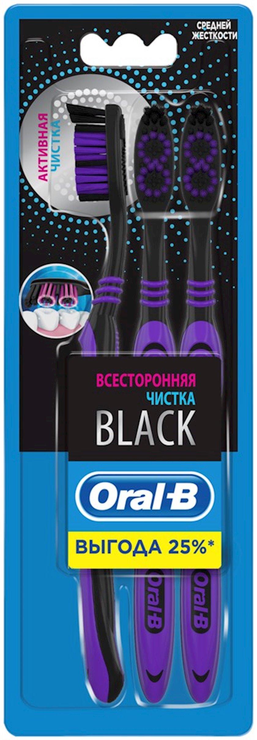 Diş fırçası Oral-B Black Hər tərəfli təmizləmə 3 əd