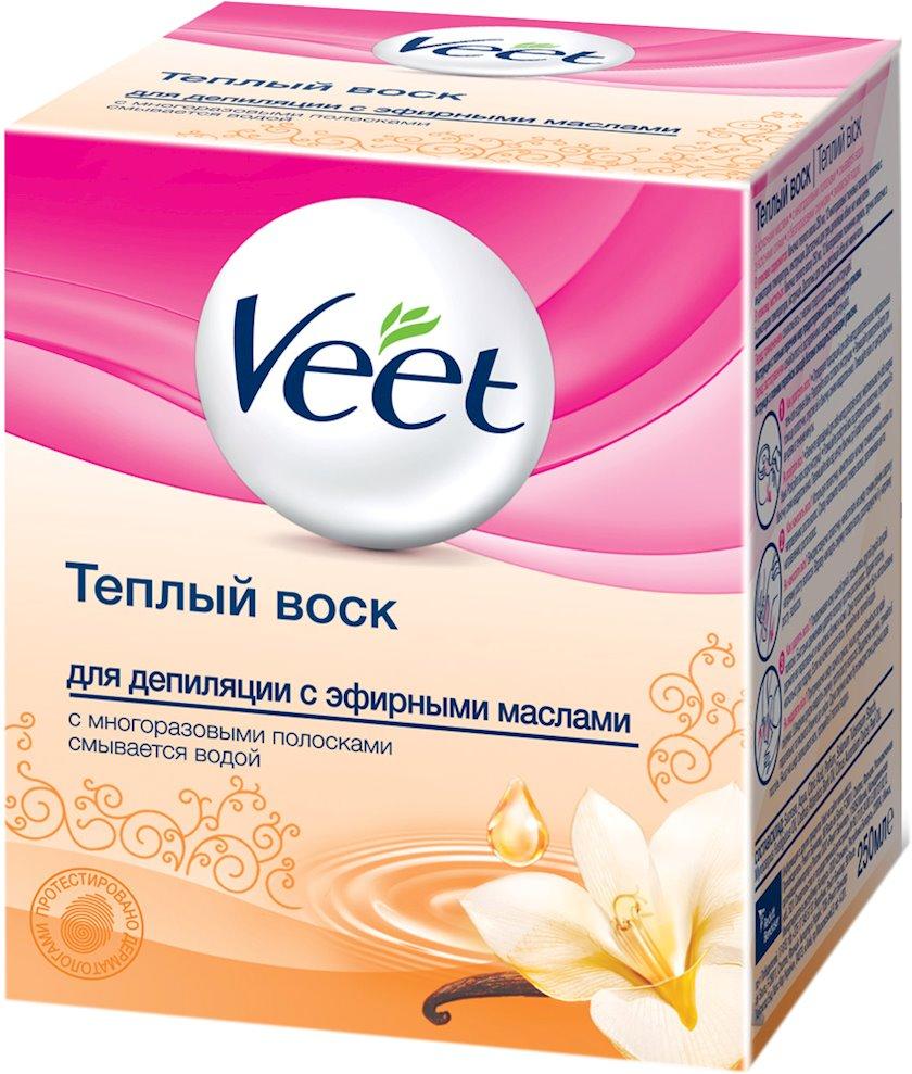 Depilyasiya üçün isti mum Veet Essential oil, 250 ml